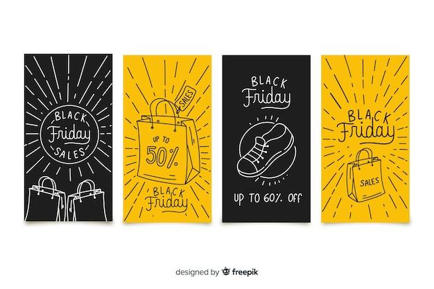 Black friday instagram geschichten sammlung