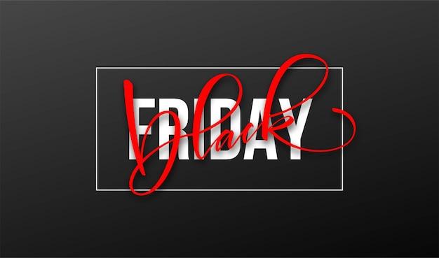 Black friday lettering design für werbung, banner, broschüren und flyer. vektorillustration eps10
