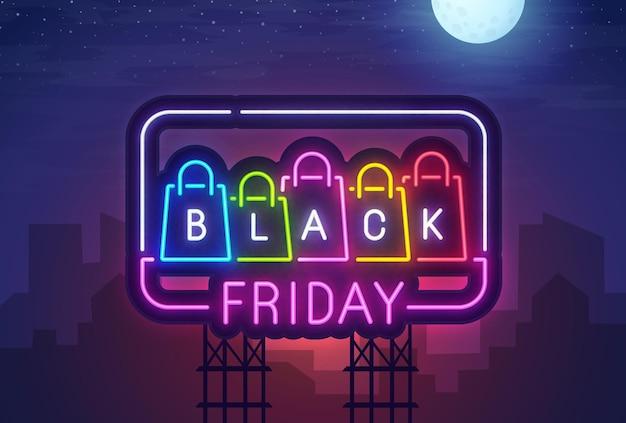 Black friday leuchtreklame