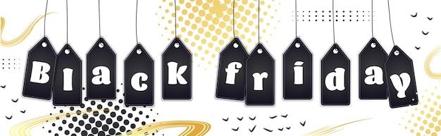 Black friday panorama verkauf banner vorlage