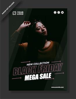 Black friday poster, flyer und social media post design