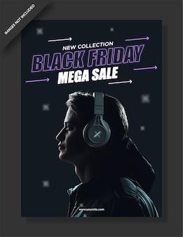 Black friday poster und social media post design