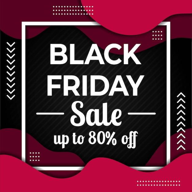 Black friday promotion sale banner