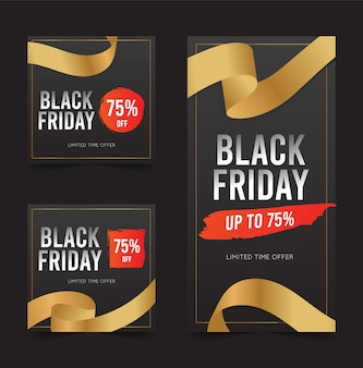 Black friday rabatt banner
