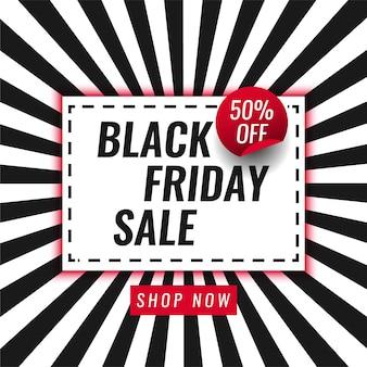 Black friday sale 50% rabatt auf template-design