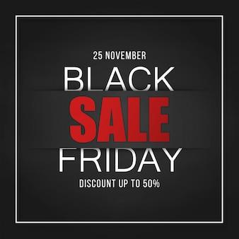 Black friday sale banner design flyer