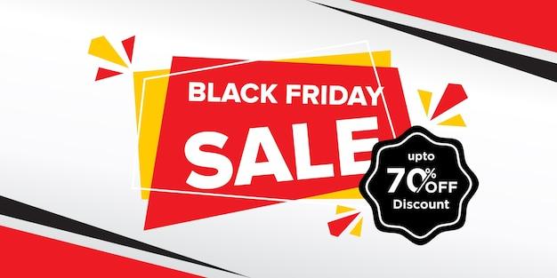 Black friday sale banner design mit abstrakten formen