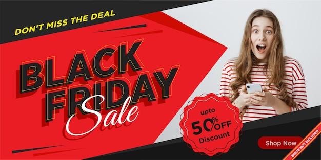 Black friday sale banner design vorlage