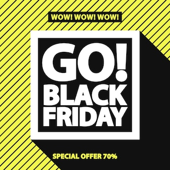 Black friday sale banner für ihre promotion