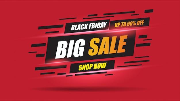 Black friday sale banner geschwindigkeit licht layout