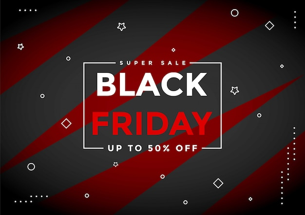 Black friday sale banner layout-vorlage