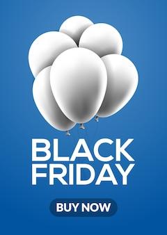 Black friday sale banner luftballons