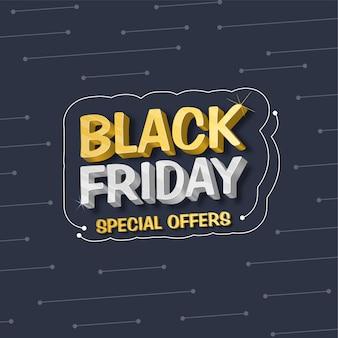 Black friday sale banner mit sonderangeboten details