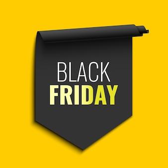 Black friday sale banner schwarzes band
