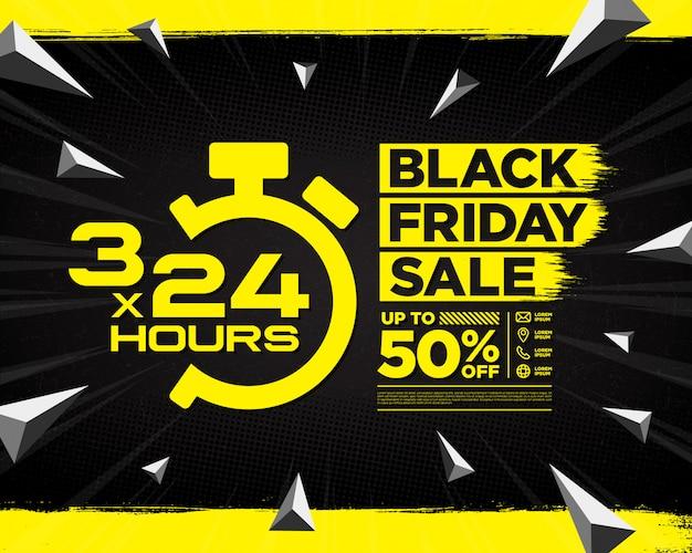 Black friday sale banner vorlage design