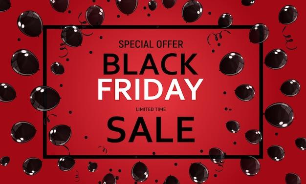 Black friday sale banner vorlage illustration eps1