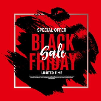 Black friday sale banner vorlage. illustration