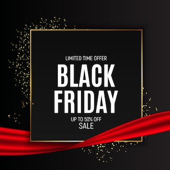 Black friday sale banner vorlage. illustration