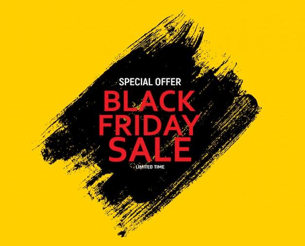Black friday sale banner vorlage. vektor-illustration.