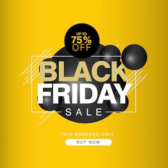 Black friday sale bis zu 75% rabatt auf banner