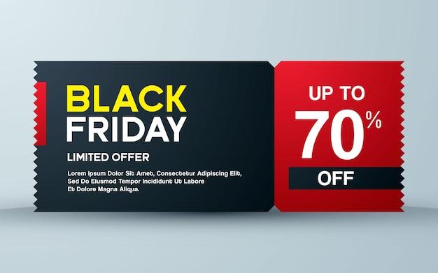 Black friday sale design ticket konzept
