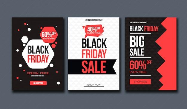 Black friday sale design-vorlage. konzeptionelles layout für banner und print.