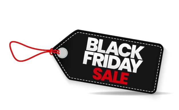 Black friday sale etikettenvorlage.