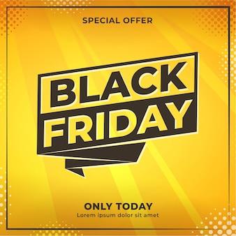 Black friday sale event social media content banner design