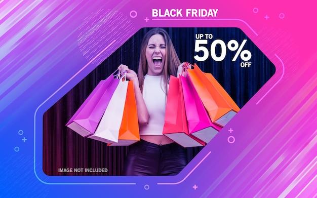 Black friday sale flyer vorlage bunt