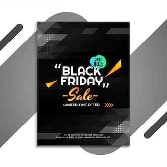 Black friday sale flyer vorlage mit geometrischem design
