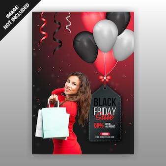 Black friday sale flyer vorlage