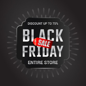 Black friday sale gesamte shop-label-design