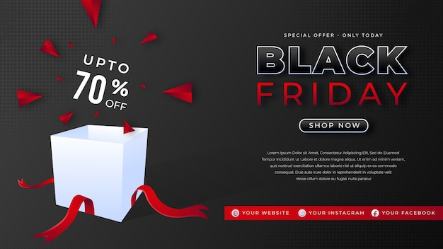 Black friday sale hintergrundvorlage