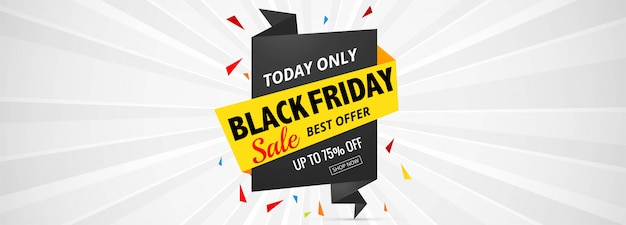Black friday sale label banner hintergrund