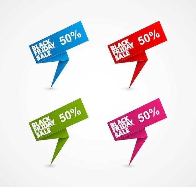Black friday sale label illustration