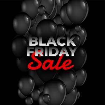 Black friday sale luftballons
