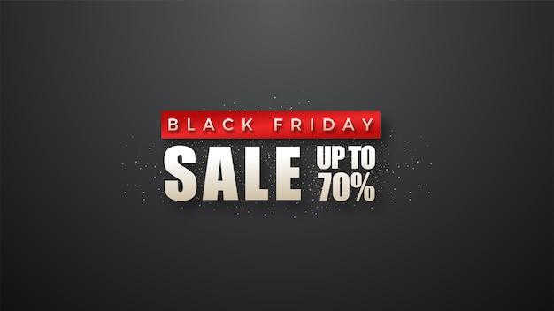 Black friday sale mit einfacher und eleganter schrift in rot und weiß