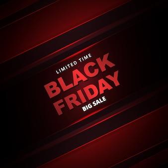 Black friday sale promotion banner. schwarzer freitag metallic dunkelrot abstrakte verkauf banner vorlage.