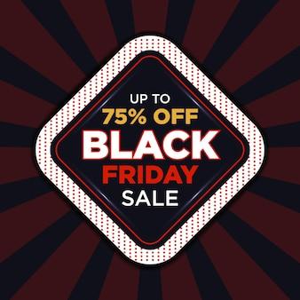 Black friday sale rabatt social media banner design