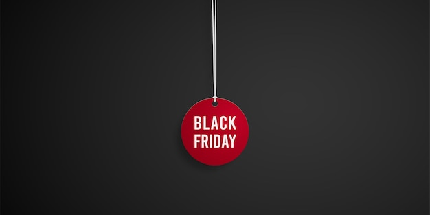 Black friday sale red tag.