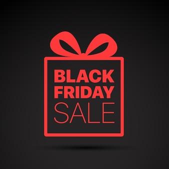 Black friday sale rotes logo. vektorkonzept