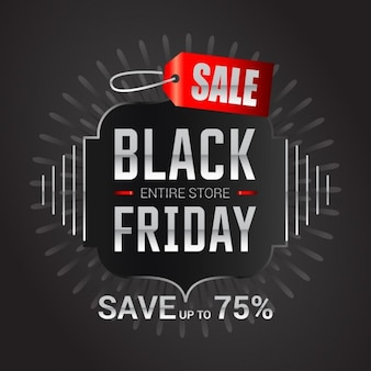 Black friday sale save 75 poster