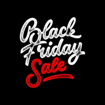 Black friday sale schriftzug