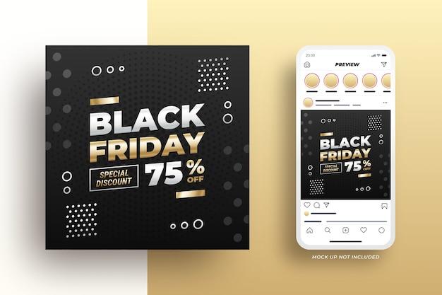 Black friday sale social media banner elegant