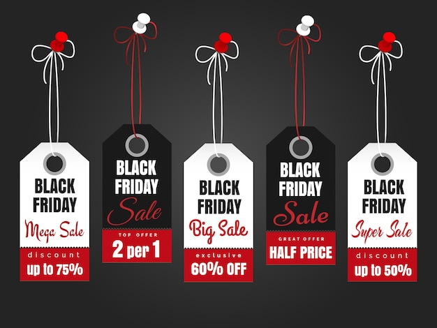 Black friday sale tags