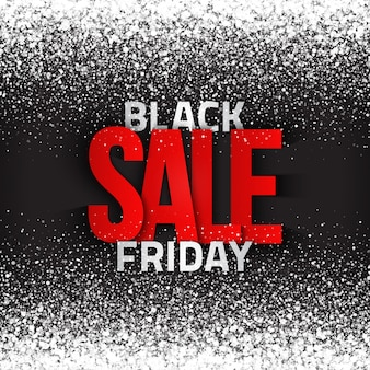 Black friday sale typografischer text abstrakter hintergrund