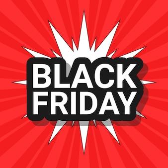 Black friday sales comic flyer design