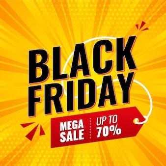 Black friday social media banner, post, verkaufsbanner oder rabattbanner premium-vorlage