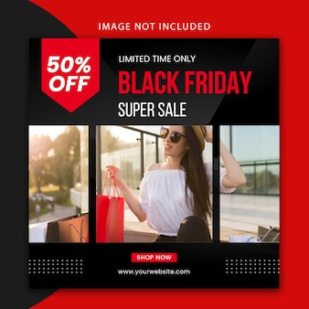 Black friday social media post-vorlage und web-banner-design