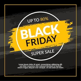 Black friday social-media-promotion- und instagram-banner-post-design-vorlage
